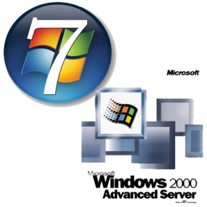 windows 7 to windows server 2000